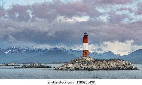 This light house was built in 1920 with the name of Les Eclaireurs. Located in the Beagle channel at the end of the world.