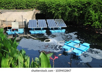 This machine is Solar panels Mechanical Aeration