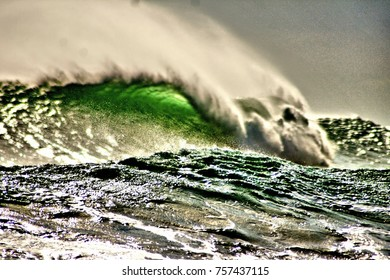 This magnificant wave was captured off of the newly formed Shelly Island in Cape Hatteras North Carolina.
