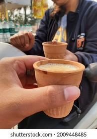 This is a Masala chai in khullad from a local tea shop in India. This tea was to bought from a local vender to support vocal for local movement so that local vender also get some livelihood.