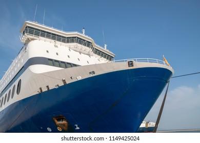 This midsize passenger ships carry passengers between greek islands.