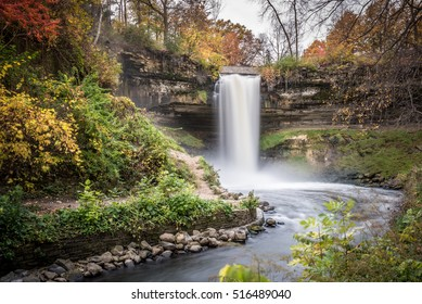 This is the Minnehaha Falls in Minneapolis, Minnesota