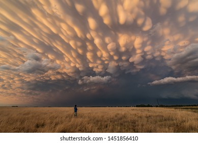 This was the most stunning display of mammatus we have ever seen in Tornado Alley off the back of a dusty supercell storm in Texas.