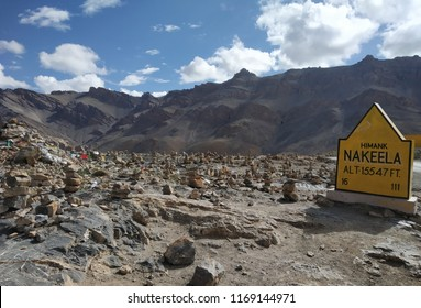 this nature's landscape photograph. High hills at ladakh under the blue sky and clouds at high angle in evening and day time. these photograph have mountains , clouds , sky, volcano etc