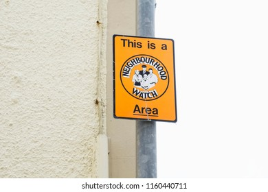 This is a neighbourhood watch area sign post