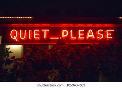This is a neon sign displayed in the motor court of a motel in Berkeley, California.