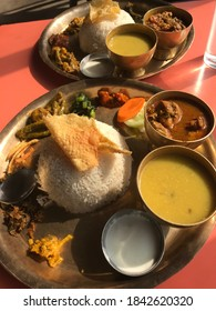 This is Nepali popular thakali khana set. Delicious rice and daal once try while you visit Nepal🇳🇵🇳🇵