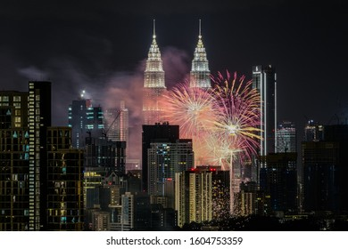 this new year count down event was happened at 1st Jan 2020, 12.02AM at Twin Tower KLCC, Kuala Lumpur, Malaysia. It was organized by government with fireworks celebration with public.