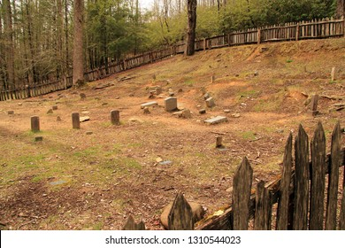 This old cemetery is one of the few surviving remnants of the old ghost town of Little Greenbrier, now located within the boundaries of Great Smokey Mountains National Park in the state of Tennessee
