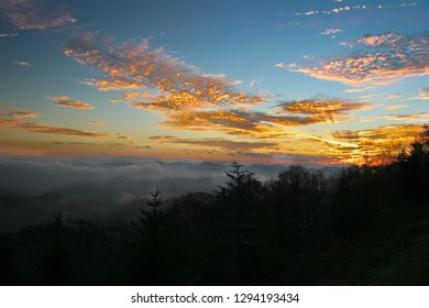 This is one of the many stunning sunsets I have seen along the Blue Ridge Parkway in NC. The Smoky Mountains look true to their name in the background.