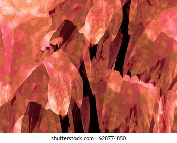 This is one of a series of dreamlike, abstract botanical fantasy images with lighting effects, based on plant and flower forms.