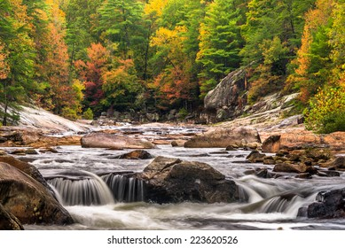 This one is Wilson Creek in North Carolina. The colors are really popping in the mountains.