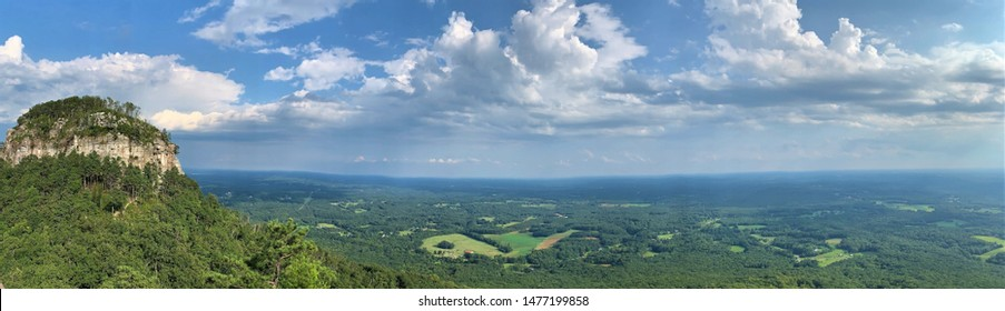 This Panorama is Pilot Mountain near Mount Airy North Carolina. Mount Airy is Andy Griffins home town.