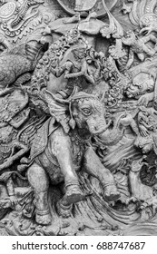 This is the part of The Ramayana sculpture