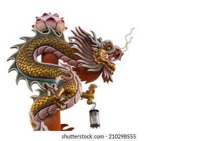 This photo are Chinese Dragon taken at Chinese temple in Thailand.