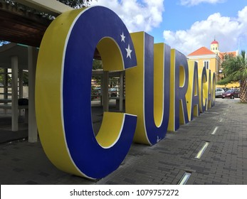This is a photo of the famous Curacao sign in Willemstad, Curacao.
