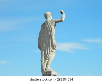 This is a photo of the famous dome in Milano, Italy, statue.