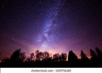 This a photo of the milky way galaxy from Cherry Springs State Park in Pennsylvania.