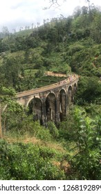 This photo represents the nine arch bridge in Ella, Sri Lanka.