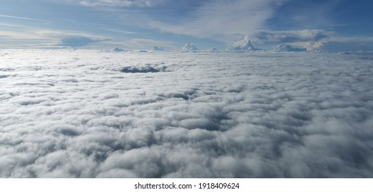 This photo was taken from the cockpit during flight. We were overflying the Colombian Pacific Ocean and a continous layer of clouds suddenly appeared to capture this amazing shot