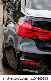 This photo was taken in Derby, Derbyshire / United Kingdom - May 27, 2018: The back of a BMW M3 (F80).