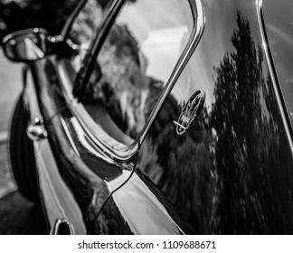 This photo was taken in Derby, Derbyshire / United Kingdom - June 10, 2018: A Maserati Quattroporte.
