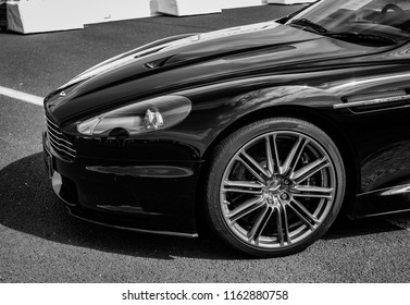 This photo was taken in Donnington, Leicestershire / United Kingdom - June 25th, 2018: Aston Martin DBS sports car