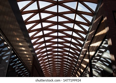 This photo was taken at The Lexicon, a shopping centre in Bracknell, Berkshire. The design of the roof has always provided a great photo or two!