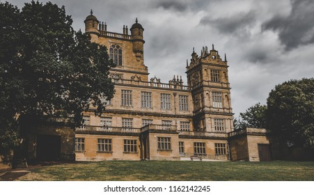 This photo was taken in Nottingham, Nottinghamshire / United Kingdom - August, 17th 2018: Wollaton Hall house