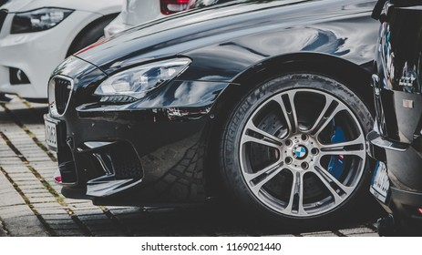 This photo was taken in Nurburgring / Germany - August, 3rd 2014: Modern BMW M6 sports car
