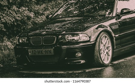 This photo was taken at the Nurburgring  , Nurburg / Germany - August 3rd, 2014: Modified BMW M3 E46 track-day car