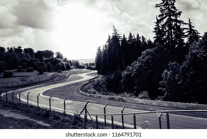 This photo was taken at the Nurburgring  , Nurburg / Germany - August 3rd, 2014: Nurburgring racetrack