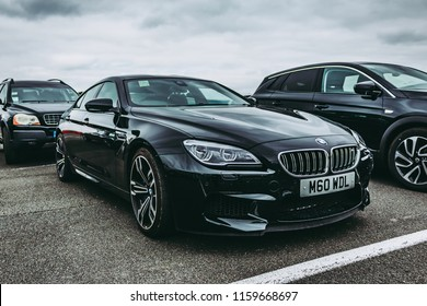 This photo was taken in Silverstone, Northamptonshire / United Kingdom - August 18th, 2018: BMW M6 Gran Coupe