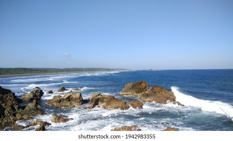 This is the photo when im travel to ranca buaya beach, i took this photo from the edge of cliff  - Shutterstock ID 1942983355