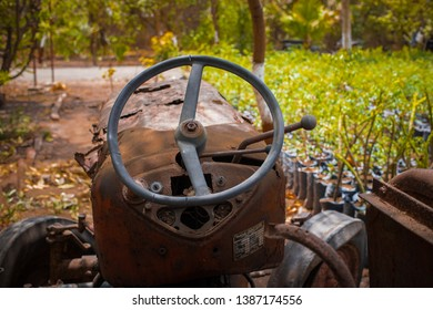 This photograph was taken by me (Jaykishan) at city jetpur in india, This is a photo of very old tractor, It was very nice and cool it's in the farm,Jetpur is a very nice place in gujrat country india