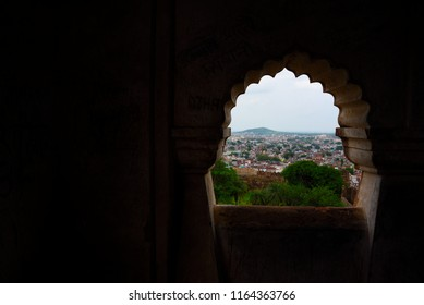 This pic shows interior architecture design of Jhansi Fort under Archaeological Survey of India located at Jhansi city Uttar Pradesh India