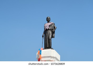 this picture is taken on febuary 2nd , 2018 . statue of thao suranari in Korat , Thailand, thao suranari known as lady mo or ya mo. The statue stands in the centre of Nakhon Ratshasima.
