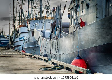This picture was taken at Steveston, BC, Canada on May 19, 2018, of the fishing fleet on the Fraser River. Located in Richmond BC, Steveston is a historic salmon canning center.