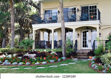 This prestigious home faces the world-famous golf course in Harbor Town, Hilton Head Island, SC