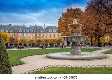 This public garden is located in the centre of the Place des Vosges.Square Louis XIII, Paris, France
