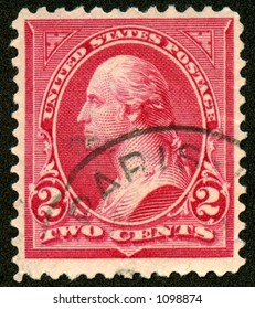 This is a really old vintage, collectible George Washington postage stamp. Probably 100 years old.