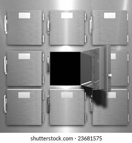 This is a rendering of a  Morgue Freezer