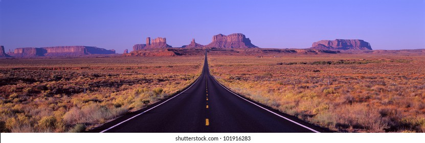 This is Route 163 that runs through the Navajo Indian Reservation.