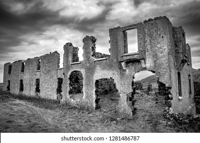 This is the ruines of an old house at Torr Head in the north of Ireland on the Antrim coast