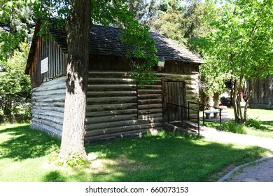 This rustic cabin was home of the first missionaries at St. Ignatius in Montana.