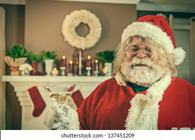 This Santa just wants to party.