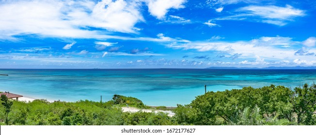 This is the sea scape in Hateruma island in Okinawa prefecture, Japan. This beautiful scenery will be the one of the destinations to traveling Japan.