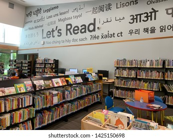 This is the children's section of the Newton Public Library in Surrey BC, taken on June 15 2019