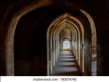 This sequence of arches and passages, called Bhool Bhulaiyan or Labyrinth,  is a part of Bara Imamabara complex in Lucknow, India