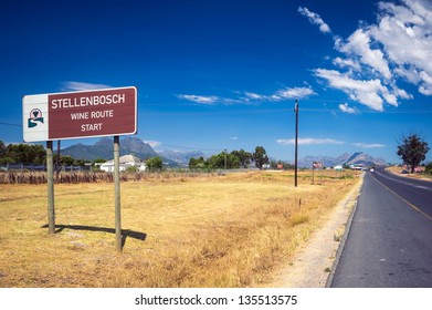 This sign marks the beginning of the new Stellenbosch American Express Wine Routes that  represent more than 200 wine and grape producers